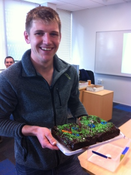 Tim Norris and cake